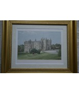 ANTIQUE 1870 19C  FRAMED ARCHITECTURAL PICTON CASTLE LITHOGRAPH MORRIS E... - $85.49