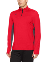 2XL Men's ASICS Team Classic 1/4 Zip Shirt Pullover Long Sleeve Motion Dry NEW