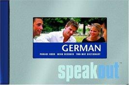 German SpeakOut: Phrase book, menu decoder, two-way dictionary (English ... - $44.39