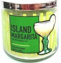 Bath & Body Works Island Margarita 3 Wick Candle Clear Jar with Green Ma... - $27.23