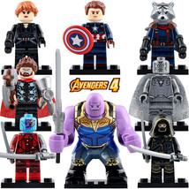 8pcs/set Marvel Avengers Endgame Thanos Hawkeye Nebula Thor Rocket Minifigures - $17.50
