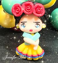 Frida Kahlo Clay Chunky Bubblegum Necklace image 7