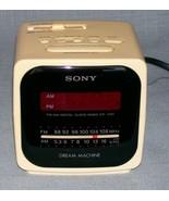 Sony Dream Machine White Cube Digital Alarm Clock AM/FM Radio ICF-C121 R... - $6.95