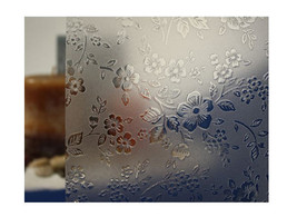 "Clear Etched Flowers Static Cling Window Film, 36"" Wide x 75 ft - $292.55"