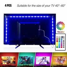 PANGTON VILLA Led Strip Lights 6.56ft for 40-60in TV USB Backlight Kit w... - $308,16 MXN