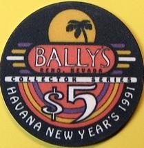 $5 Casino Chip. Bally's, Reno, NV. Havana New Year 1991. O71. - $6.50