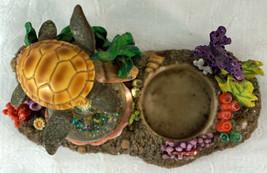 Cadona 1999 Mini Water Globe Sea Turtle Ocean Theme Coral Figurine Votiv... - £19.28 GBP