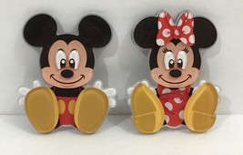 Disney Parks Exclusive Mickey & Minnie Mouse Acrylic Magnet Set New - $33.94