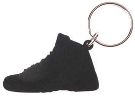 Good Wood NYC Taxi 12 Sneaker Keychain Black/Grey IV Shoe Ring Key Fob image 2