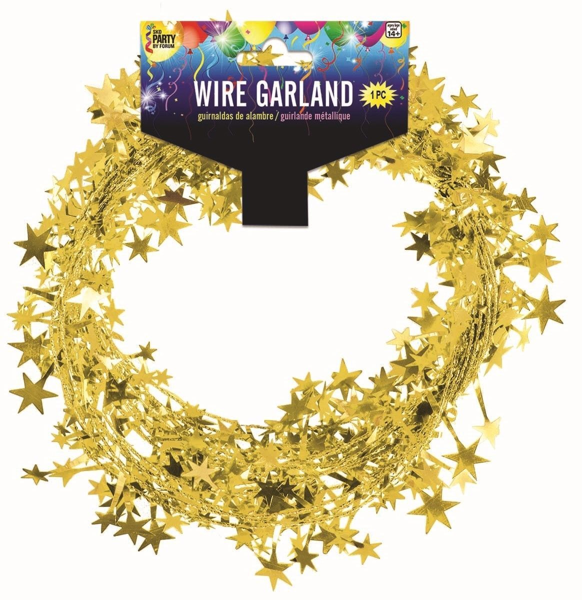 25 Foot Wire Garland - Gold(12 pcs)