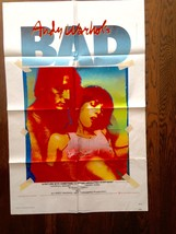 *ANDY WARHOL'S BAD (1977) One-Sheet Poster INSCRIBED BY ACTRESS SUSAN TY... - $239.20