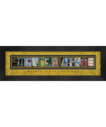 Emporia State University Officially Licensed Framed Campus Letter Art - $39.95
