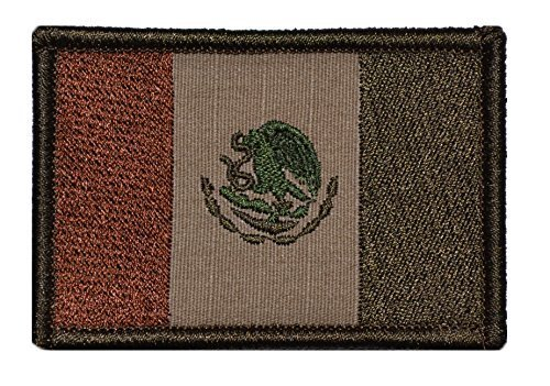 Flag of Mexico 2x3 Military Patch / Morale Patch (Coyote Brown)