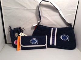 NEW Penn State Spirit Ready Denim Clutch Wallet and Cell Case Set