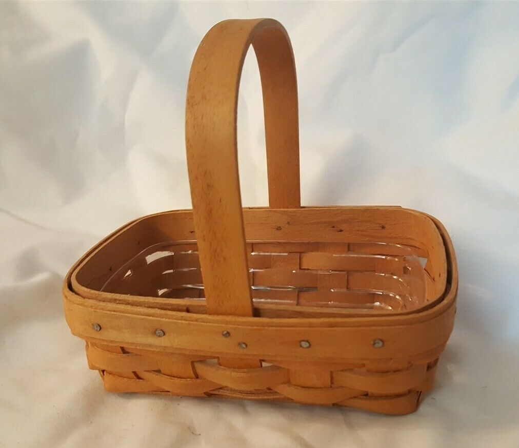 Longaberger 1996 Horizon Of Hope Basket & Plastic Protector