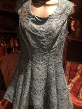 Unused Betsey Johnson Turquoise Brocade Party Dress Size 4 - $118.80