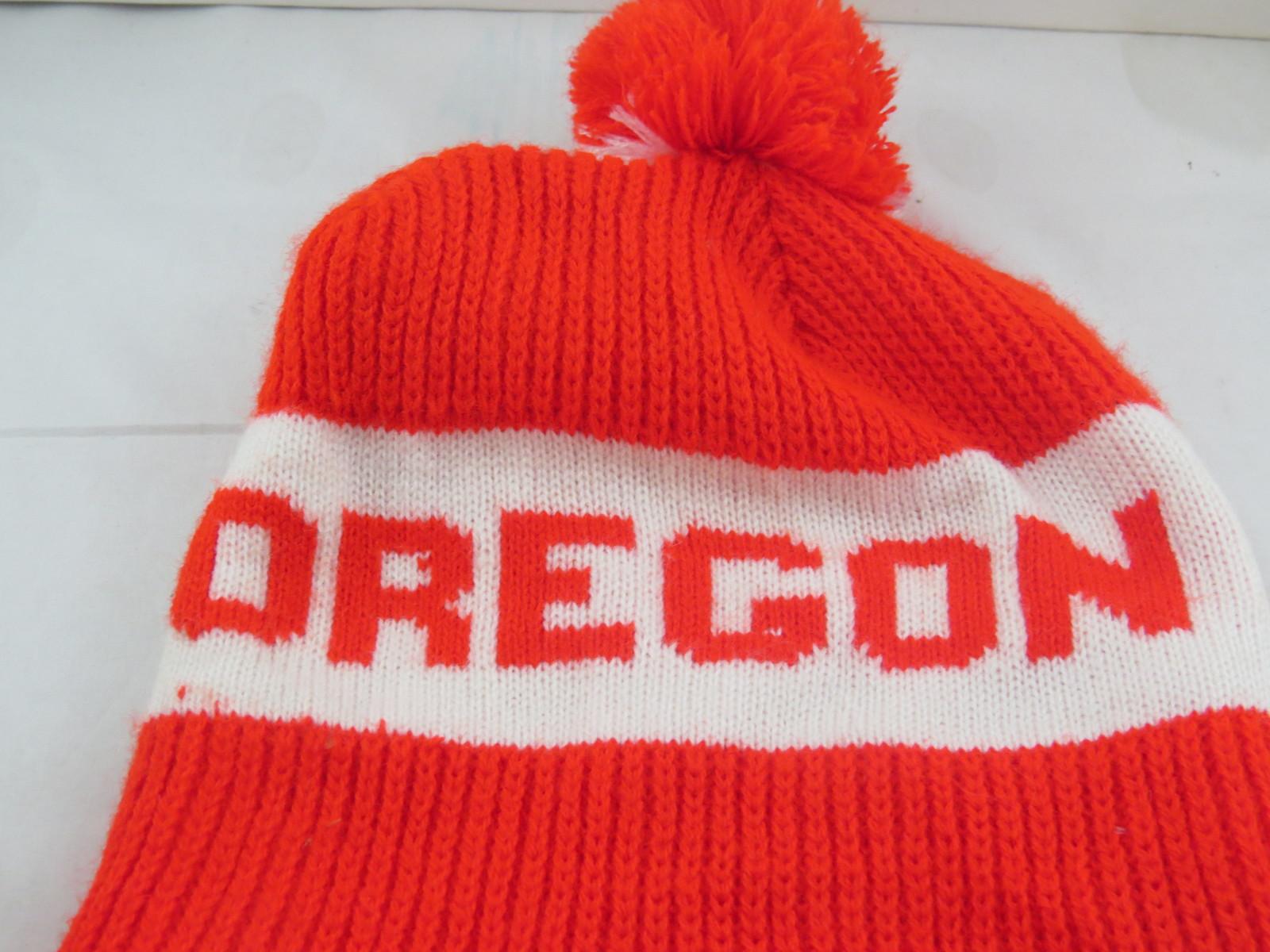 Vintage Oregon State Beavers Toque/Beanie - Block Letter Wrap Script - Adult Hat