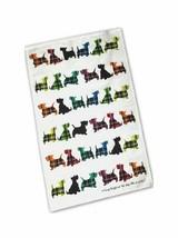 New Scottie Dogs Coloured Kitchen Tea Towel 100% Cotton Scotland Gift New - $7.67
