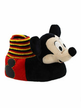Disney Mickey Mouse Toddler Boys Plush 3D Mickey Head Sock Top Slippers - $8.99