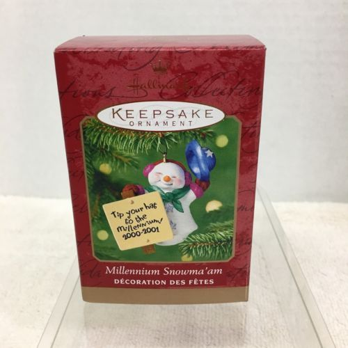 Primary image for 2000 Millennium Snowmaam Hallmark Christmas Tree Ornament MIB Price Tag H2
