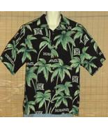 Reyn Spooner Sports Hawaiian Shirt Black Green Palm Trees Hawaii Size Large - $24.99