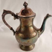 Vintage 5th Ave Silver Co Silver Over Copper Coffee Pot - $42.32