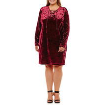 New! Nwt City Streets Burgundyvelvet Party Holiday Long Sleeve Plus Size 1X - $25.98