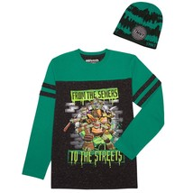 Teenage Muntant Ninja Turtle Boys Long Sleeve Shirt Beanie Combo Medium ... - $12.86