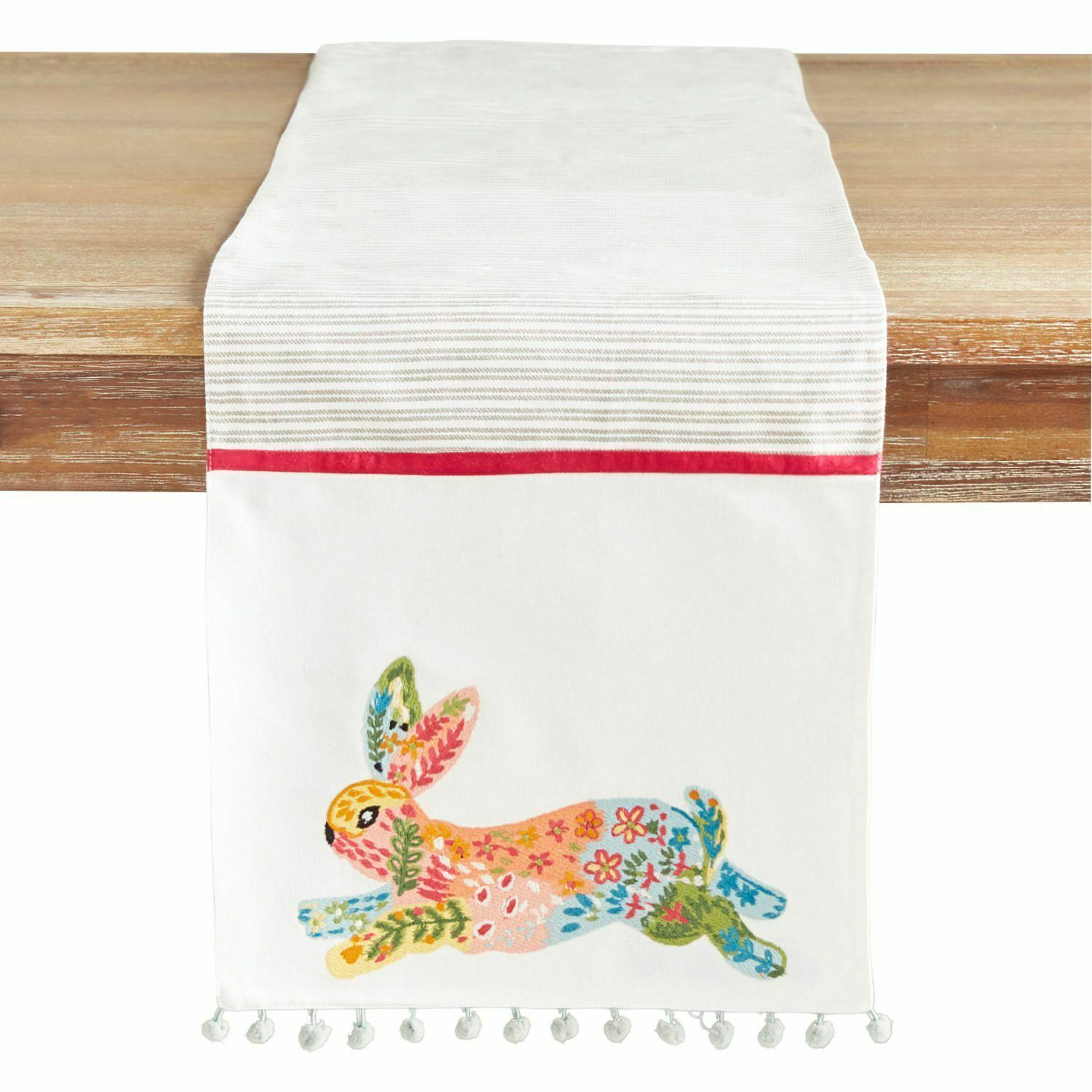 Primary image for NWT Pier 1 Imports EMBROIDERED  Easter RABBIT Table Runner 13 x 72
