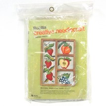 Bucilla Fresh Fruit Stamped Embroidery Shadow Box Kit 2206 Strawberries Grapes - $19.30