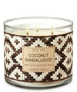 Bath & Body Works Coconut Sandalwood 3 Wick Scented Candle 14.5 oz - $28.04