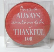 Momentum Round Glass Coasters Red 4 Piece Set New - $14.23
