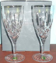 Waterford Lismore Traditions Iced Beverage Set of 2 w/Starburst Foot Ireland New - $139.90