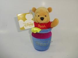 "NWT Disney Store - Winnie The Pooh ""Honey Pot SLAMMER"" Bean Bag Plush 7"" - $16.04"