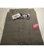 Detroit Red Wings Stripe Shirt Long Sleeve Medium NHL Lee Sport 100 % Co... - $14.95