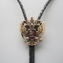 Russian Double-headed Eagle Mens Bolo Tie Wedding Necklace Western Cowboy - $17.75