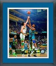 J.R. Reid 1993 Charlotte Hornets Vintage - 11 x 14 Matted/Framed Photo - $43.55