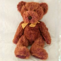 Russ Berrie Teddy Bear Plush Bears Of The Past Tinker Multi Color Red Gold - $16.99