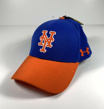 Under Armour New York Mets Mlb Driver Cap 2.0 Adjustable Hat Blue Orange *New* - $26.13