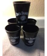 (5)  JACK DANIEL'S PLASTIC GLASSES--OLD NO. 7--RECIPES ON BACK---FREE SH... - $14.51