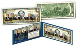 LIVING PRESIDENTS including DONALD TRUMP Genuine Legal Tender $2 U.S. Bi... - $13.81