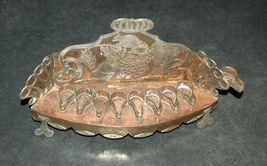 Judaica Oil Menorah Hanukkah Vintage Israel Silver Copper 7 Seven Species 1960's image 3