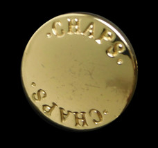 """Org CHAPS Ralph Lauren Gold Tone Metal Replacement Button small .40"""" - $3.22"""