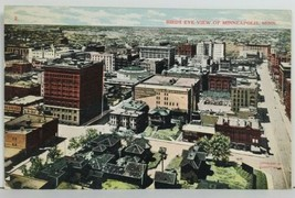 MN Bird's Eye View of Minneapolis Minnesota c1908 to Fargo ND Postcard P4 - $9.95