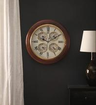 Brown Wooden Vintage Style Wall Clock with 4 Embedded small Clock - $382.00+