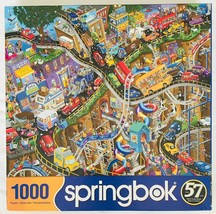 """Getting Away Jigsaw Puzzle 1000 pc Springbok 24"""" x 30"""" 2020 Made in USA Vehicles - $24.18"""
