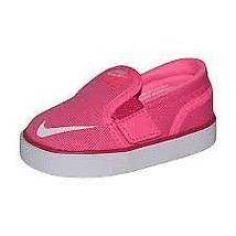 Nike Toddler Toki Slip-On Canvas Sneaker ~Pink Pow/White-Vivid Pink - $29.71