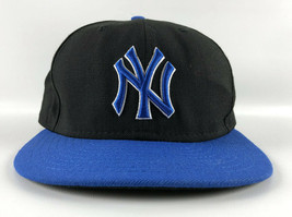 New York Yankees Baseball Hat New Era 59Fifty Black Blue - Fitted Size 7 1/4 - $29.69