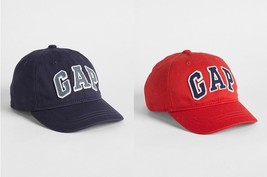 Gap Kids Logo Baseball Cap XS/S S/M M/L Red Navy Blue Twill Cotton Hat P... - $13.99