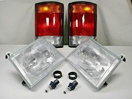 Headlights Taillights 92-94 Ford E-150 E-250 E-350 Econoline Cargo Passenger Van - $97.51
